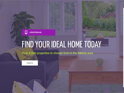 Apartment listing Website Design by WORDPRESS design ux ui branding