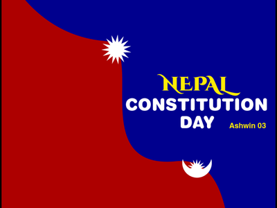 Constitution day of Nepal vector banner constitution day of nepal nepal graphic design