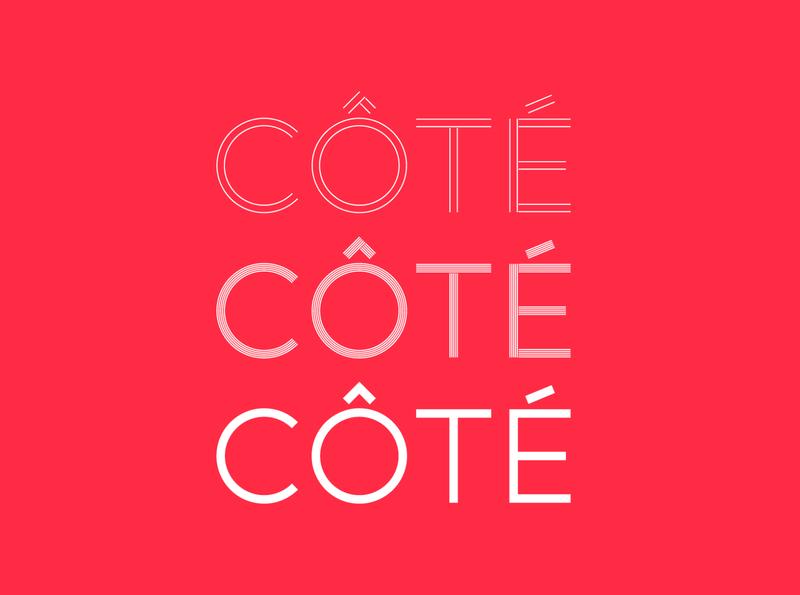 Côté - Typeface sansserif sans branding font design typographic typography typeface fonts