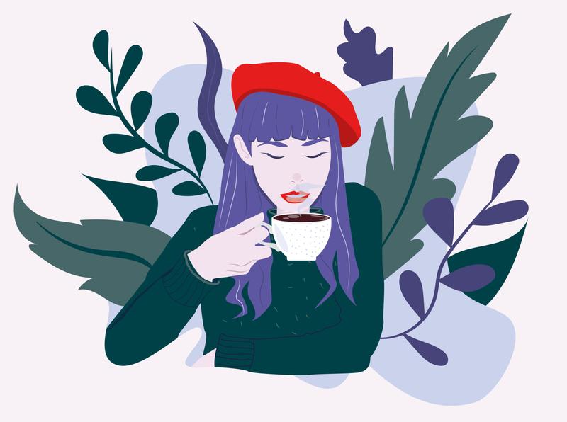 I need more coffee graphic design art illustrator icon animation minimal vector design illustration