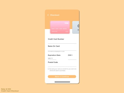 Daily UI #002 • Credit Card Checkout design checkout app design uiux ux ui dailyuichallenge sketch creditcardcheckout creditcard 002 dailyui dailyui002 daily ui 002 checkout page