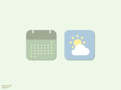 Daily UI 005 • App Icon simple app icon app logo weatherappicon calendarappicon sketch uidesign ui design appicon icon design icon dailyuichallenge 005 dailyui005 dailyui
