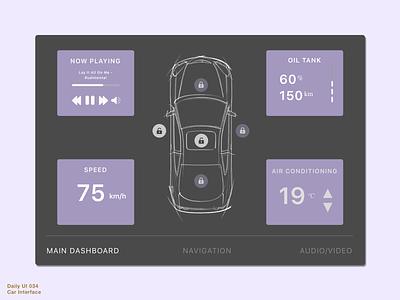Daily UI 034 • Car Interface sketch design interfacedesign interface uidesign uiux ui control panel car interface carinterfacedesign carinterface 034 dailyui034 daily100 daily100challenge dailyuichallenge dailyui