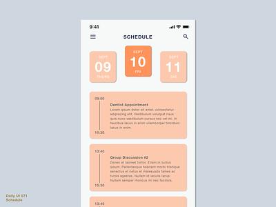 Daily UI 071 • Schedule mobile user interface interface design ui uiux sketch design calendar app calendar schedule app plan daily schedule schedule plan schedule daily100 daily100challenge 071 dailyui071 dailyuichallenge dailyui
