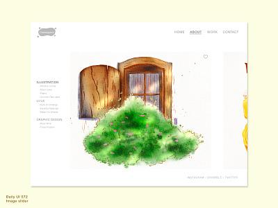 Daily UI 072 • Image slider image gallery slider uidesign webdesign uiux ui sketch design illustration portfolio interface design web interface image slider daily100 daily100challenge 072 dailyui072 dailyuichallenge dailyui