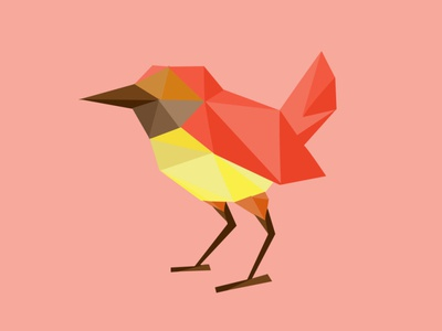 Polygonal Bird bird polygonal character design creative vector graphic photoshop graphicdesigner graphic design branding adobe photoshop