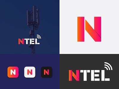 NTEL LOGO n logo mordan logo branding creative logo logo design lettermark logo
