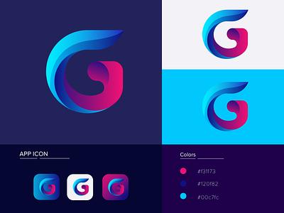 G modern letter | App logo design lettermark logo design g monogram g letter g logo g mark