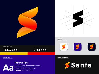 Sanfa logo modren logo brand identity design brand identity s letter logo s letter s logo lettermark creative logo app icon logo design logodesign logo