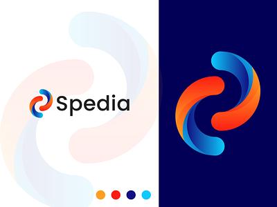 Spedia Logo lettermark logo trends 2021 modern logo modern creative logo app icon s letter logo s letter mark s logo logo design concept logodesign logo