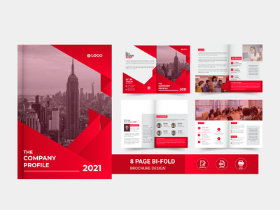 8 page corporate brochure bi fold brochure corporate flyer modern best identity design creative trendy minimal minimalist elegant clean company profile brochure template brochure 8 page corporate brochure corporate