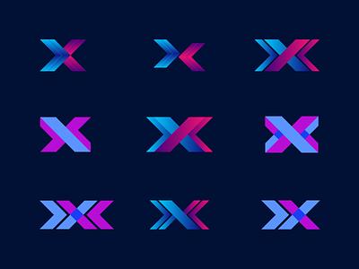 X Letter Logo clean design logoset logo folio x logo brand identity tech logo colorful x letter logo lettermark logodesign minimalist modern trendy creative clean logosai logo x letter x