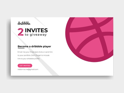 2 dribbble invitation giveaway get invited become a player player card invitation 2 invites giveaways giveaway dribbble invitation dribbble invite