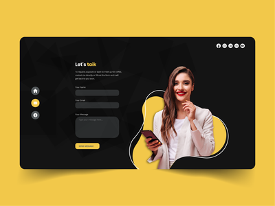 Contact Form branding ux uiux contact me contact us get in tuch contact page contact from web design graphic design ui