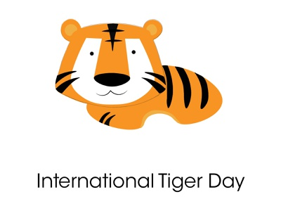 International Tiger Day - July 29 - Illustration flat photoshop minimal logo vector illustration design branding art animation
