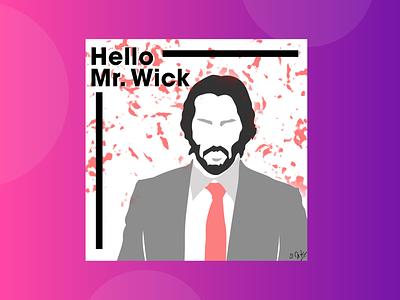 John Wick - Illustration adobe portrait adobe illustrator photoshop logo design vector illustration animation art