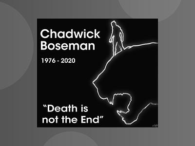 Chadwick Boseman - Black Panther Tribute - Line Art adobe illustrator draw portrait adobe illustrator photoshop design vector illustration branding animation art