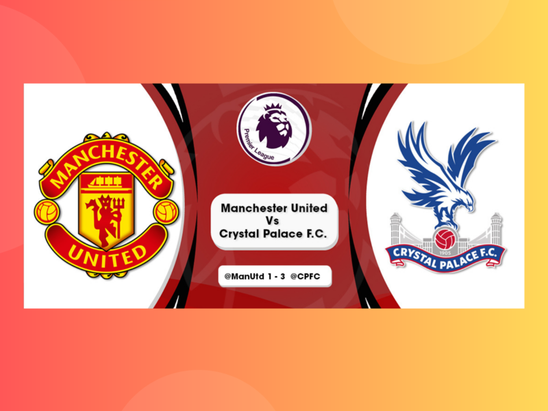 Manchester United Vs Crystal Palace F.C - Premier League premier league crystal palace fc manchester united typography adobe illustrator draw minimal adobe illustrator photoshop branding design vector animation art