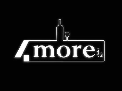 4more - Club & Bar - Logo bars party club bar typography flat minimal logo adobe illustrator branding illustration vector animation art