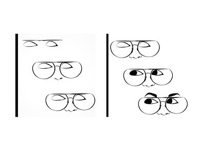 Eye Sketch - Illustrator specs girl eyes adobe illustrator draw portrait flat minimal adobe illustrator design illustration vector art