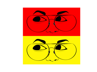 Eye Sketch - Illustrator subtle beautiful minimal adobe illustrator vector illustration eyes line art collage yellows reds portrait lines art