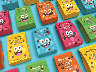 Sweet Faces! packaging illustration bright smile colors fun chocolate faces sweet