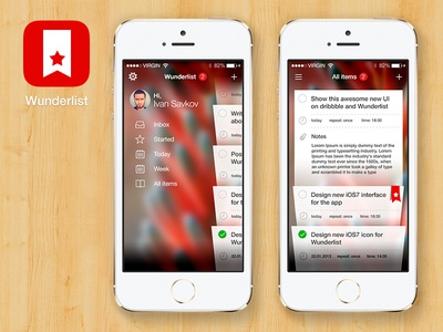 Wunderlist for iOS7