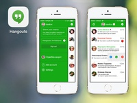 Hangouts for iOS7