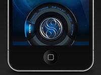 Mobile app circle navigation