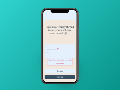 Daily UX: Wrong Email mockup uidesign uxdesign dailyux