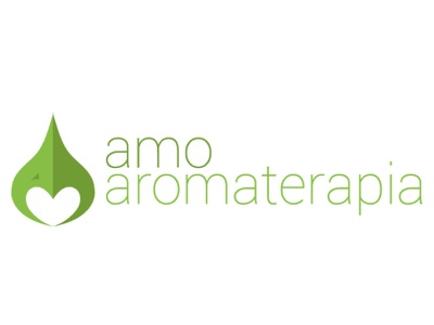 logotipo amoaromaterapia website web typography vector logo branding design