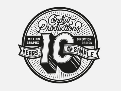 Conduit Productions jordan metcalf logo black and white conduit