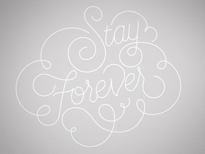 Stay Forever type jordan metcalf black and white monoline typography cape town south africa stay forever