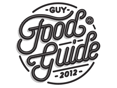 "Mens Health ""Guy Food Guide 2012"" jordan metcalf mens health food guide logo type custom typography"