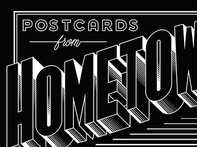 Postcards jordan metcalf lettering script black white