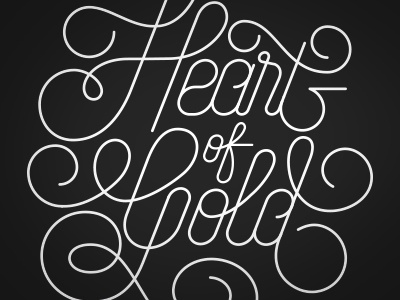 Heart of Gold heart gold black and white