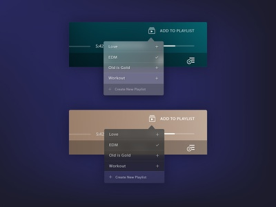 UI Elements: Playlist Addition add interface illustrator ui music playlist