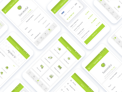 Banking App screens personal banking bank android green illustrations sprint design app banking