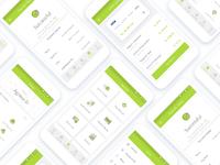 Banking App screens