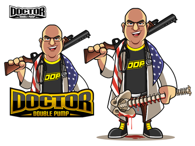 Doctor Double Pump gaming twitch illustration mascot digital art character cartoon characterdesign
