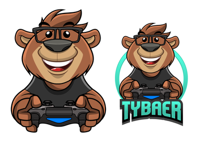 Tybear Character design video game twitch gaming vector mascot design illustration mascot digital art character cartoon character design drawing