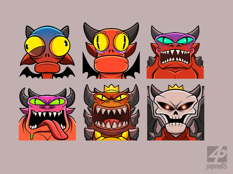Sub Badges video game gaming illustration digital art character character design tier evolution level cartoon drawing youtube twitch emoji badges subbadges