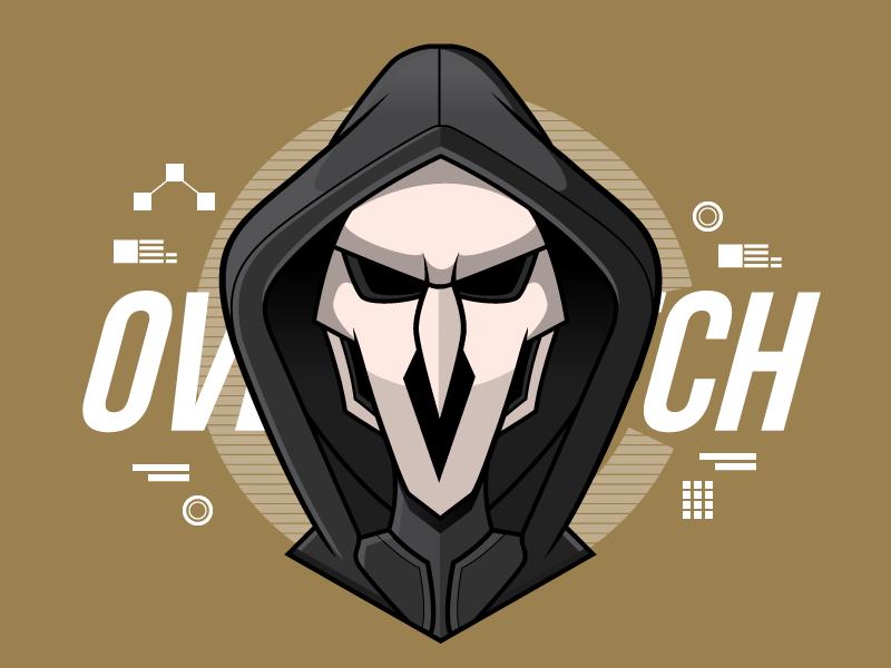 Overwatch - Reaper digital art illustrator illustration vector fanart gaming reaper overwatch