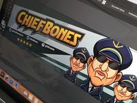 Twitch banner illustration