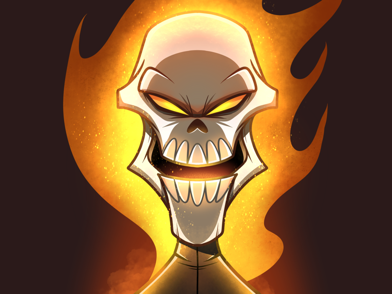 Headshot 2 Ghost Rider By Adrian Pontoh On Dribbble