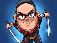 Ninja caricature