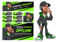 Twitch Panels and Character design - White_Razgriz