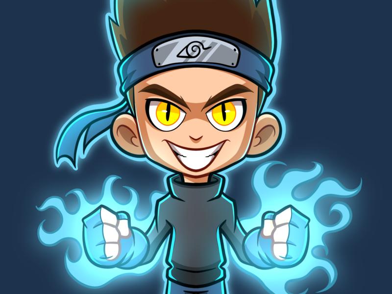 Commissions Illustration procreate streaming fanart illustrator video game illustration digital art mascot character cartoon character design drawing manga naruto