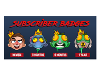 Twitch badges - Zombie king