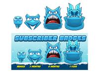Ice Monster - Sub Badges